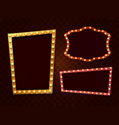 vintage 3d light retro frames vector image