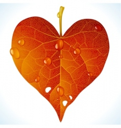 autumnal love vector image vector image