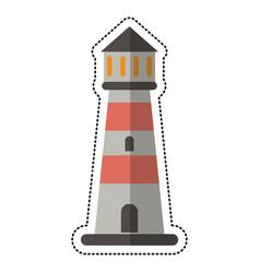 cartoon lighthouse guide sea vector image