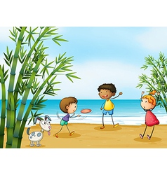 Cartoon Playing kids vector image vector image