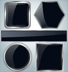 glossy metal background vector image vector image
