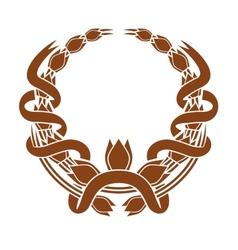 Laurel wreath with a serpentine ribbon vector image vector image