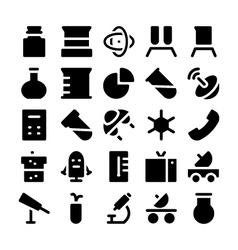 Science icons 5 vector