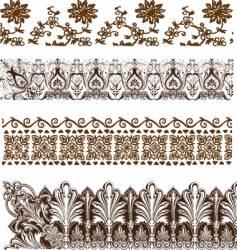 vintage grunge border elements vector image
