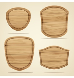 Wood elements vector image