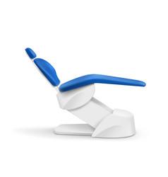 Blue dental chair vector