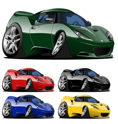 cartoon car one click repaint vector image vector image