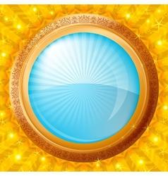 glass porthole background vector image