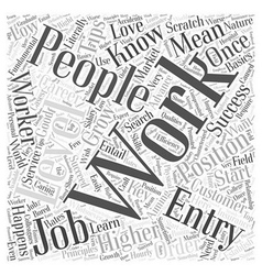 JH entry level jobs Word Cloud Concept vector image