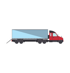 loading commercial freight truck isolated icon vector image vector image