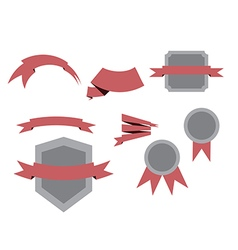 objects ribbons set vector image