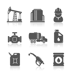 Oil industry petroleum processing icons set vector image vector image