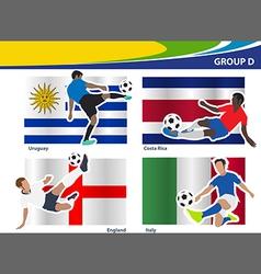 Soccer football players Brazil 2014 group D vector image