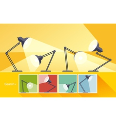 Concept reading-lamp flat design vector