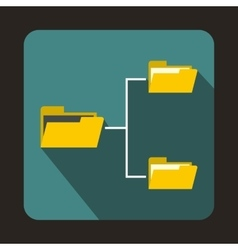 Folders structure icon in flat style vector image