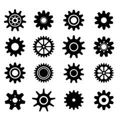 Gear cogs wheels icons set vector image vector image