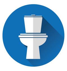 icon toilet bowl vector image vector image