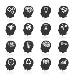 Thinking Head Icons vector image