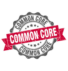 common core stamp sign seal vector image vector image