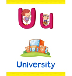Learning Alphabet U vector image