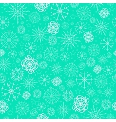 pattern image of snowflakes vector image vector image