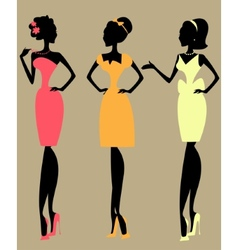 Pretty fashionable women vector image vector image