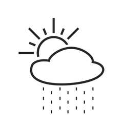 Rain with sun Light or scattered shower Weather vector image