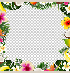 tropical frame isolated vector image