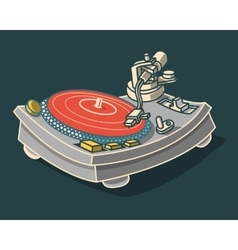 Turntable Graphic vector image vector image