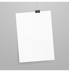 white paper with clip vector image vector image