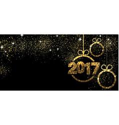 2017 banner with Christmas balls vector