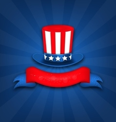 Abstract Background with Uncle Sam Hat vector image