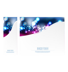 Abstract bokeh vision pick design template vector