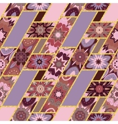abstract seamless patchwork pattern with vector image