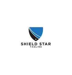 abstract shield and star graphic design template vector image