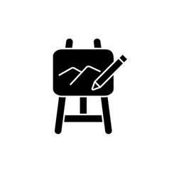 Art black glyph icon vector