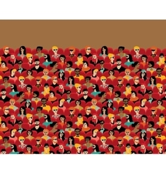 Auditorium audience hall large group people vector image