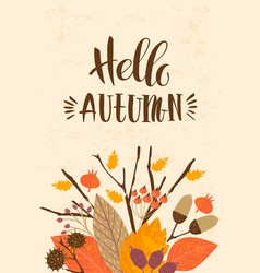 Autumn templates design for card poster vector
