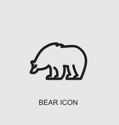 Bear icon vector