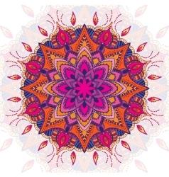 Beautiful colored mandala ornament Vintage vector