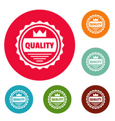 Big quality logo simple style vector