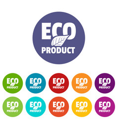 bio product icons set color vector image