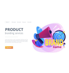 Brand name concept landing page vector