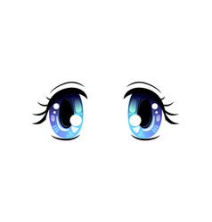 Bright eyes blue beautiful eyes with light vector