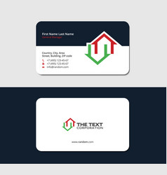 Business card for a real estate broker vector