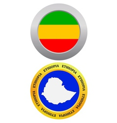 Button as a symbol map ETHIOPIA vector