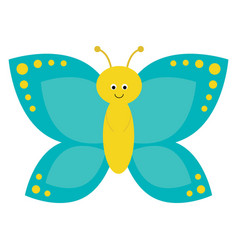 cartoon butterfly characters on a white background vector image