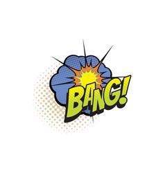 Cartoon comic book sound cloud bang blast vector