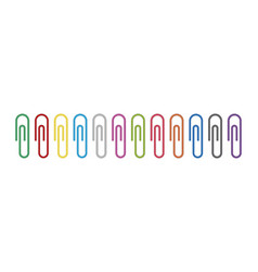 clip paper for memo metal paperclip for office vector image