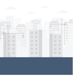 construction skyline background vector image